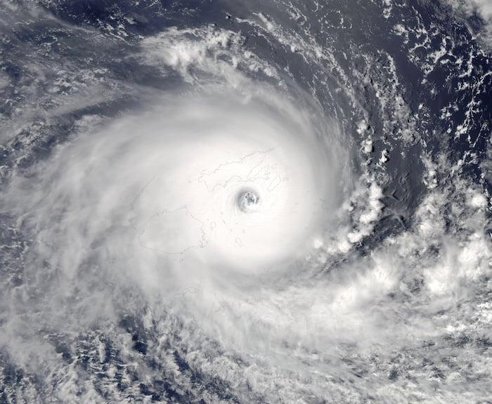 TC Winston over Fiji on 20 Feb 2016: MODIS image captured by NASA's Aqua satellite - Rapid Response - LANCE