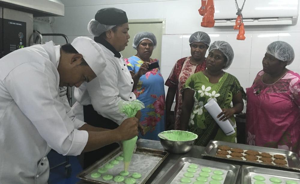 Women visit APTC training kitchen